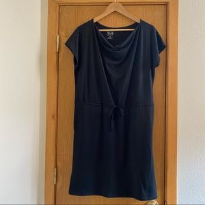 MOUNTAIN HARD WEAR • Black Cowl Neck Dress - L